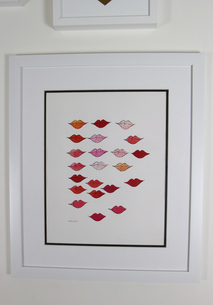 DIY Home Decor Gallery Wall Fulcrum Gallery Andy Warhol Stamped Lips Custom Framed Art Review