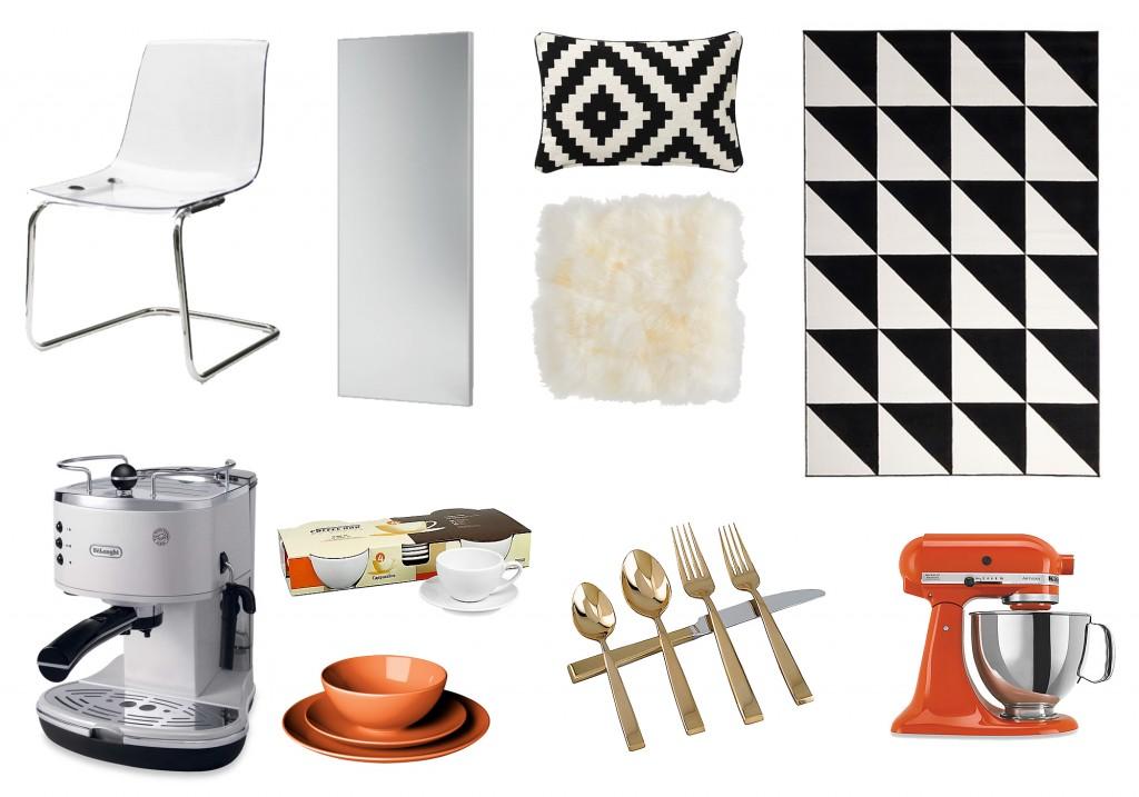 Olivia Moves Out Bedroom Kitchen Decor Wishlist Orange Black White Interior Design