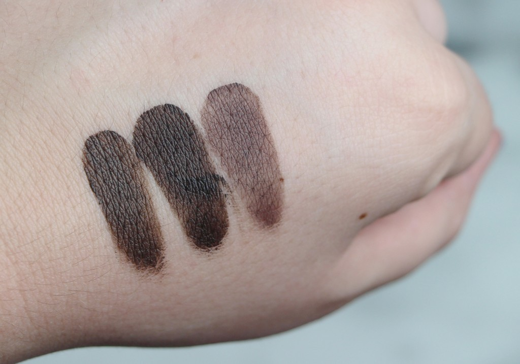 INGLOT AMC Brow Liner Gel Review 19 20 21 Swatches