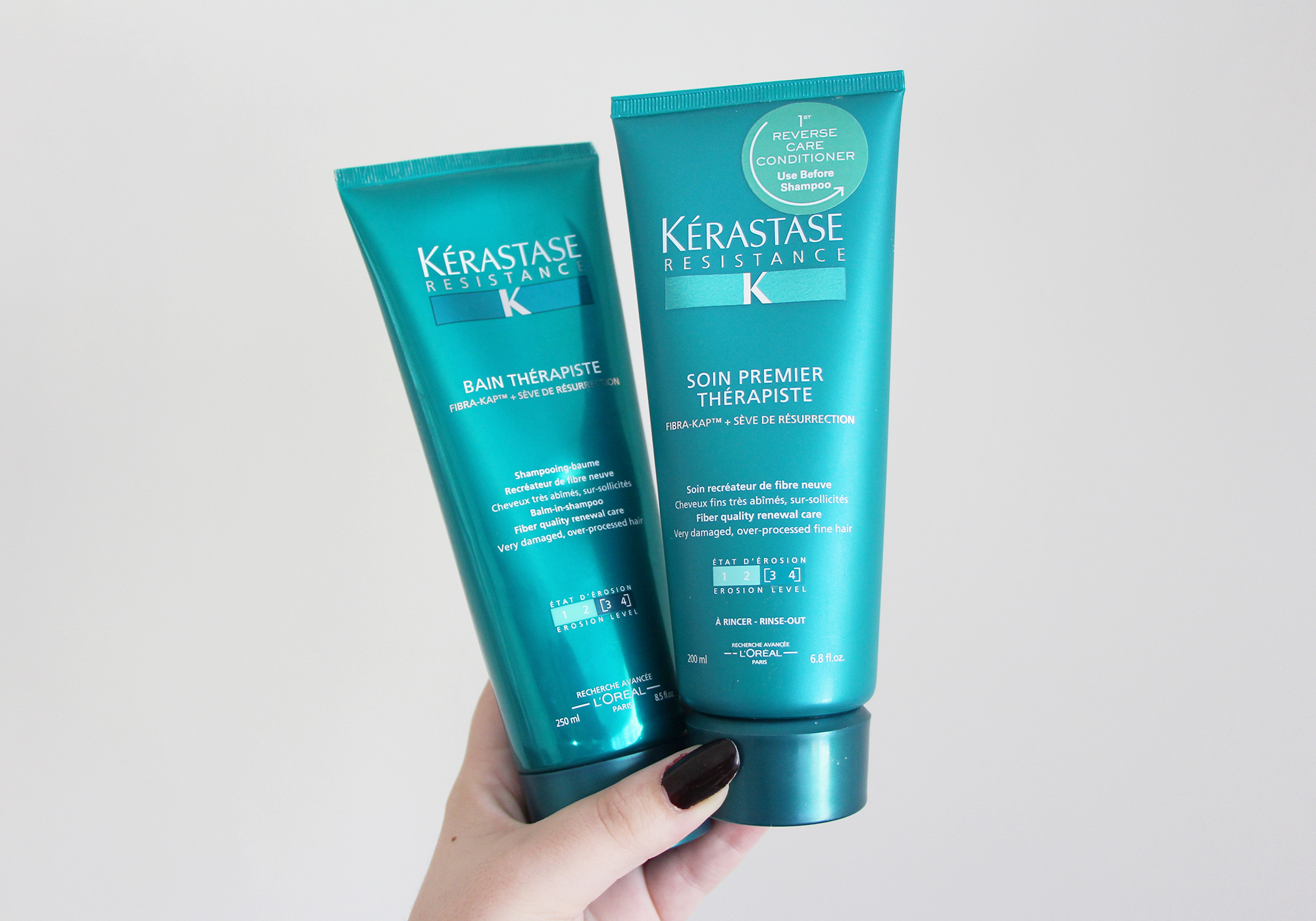 k rastase resistance bain therapiste shampoo conditioner review. Black Bedroom Furniture Sets. Home Design Ideas