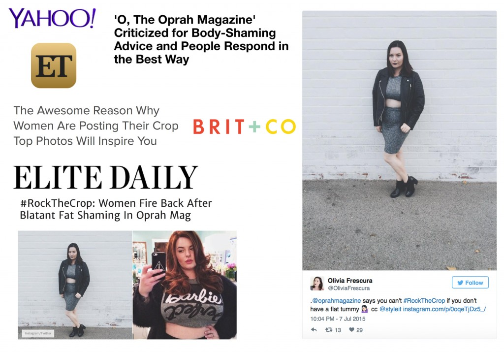 Top 15 Moments Of 2015 Olivia Frescura Press ET Yahoo Brit + Co Elite Daily