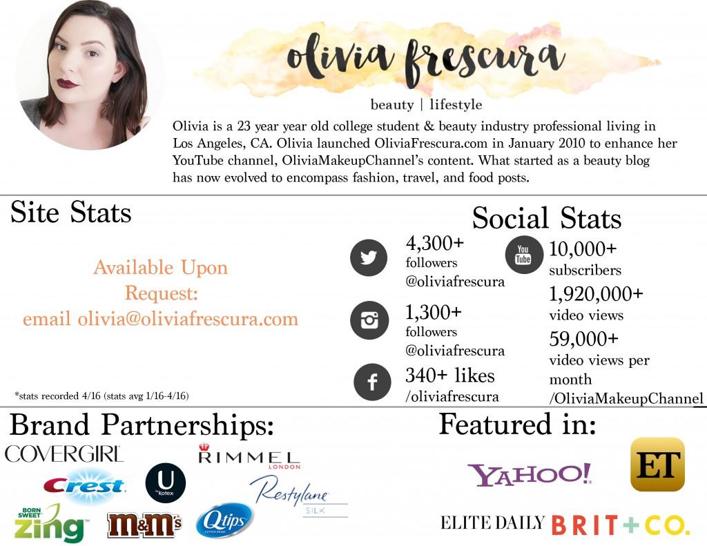 Olivia Frescura Media Kit 2016 public Update 4-5
