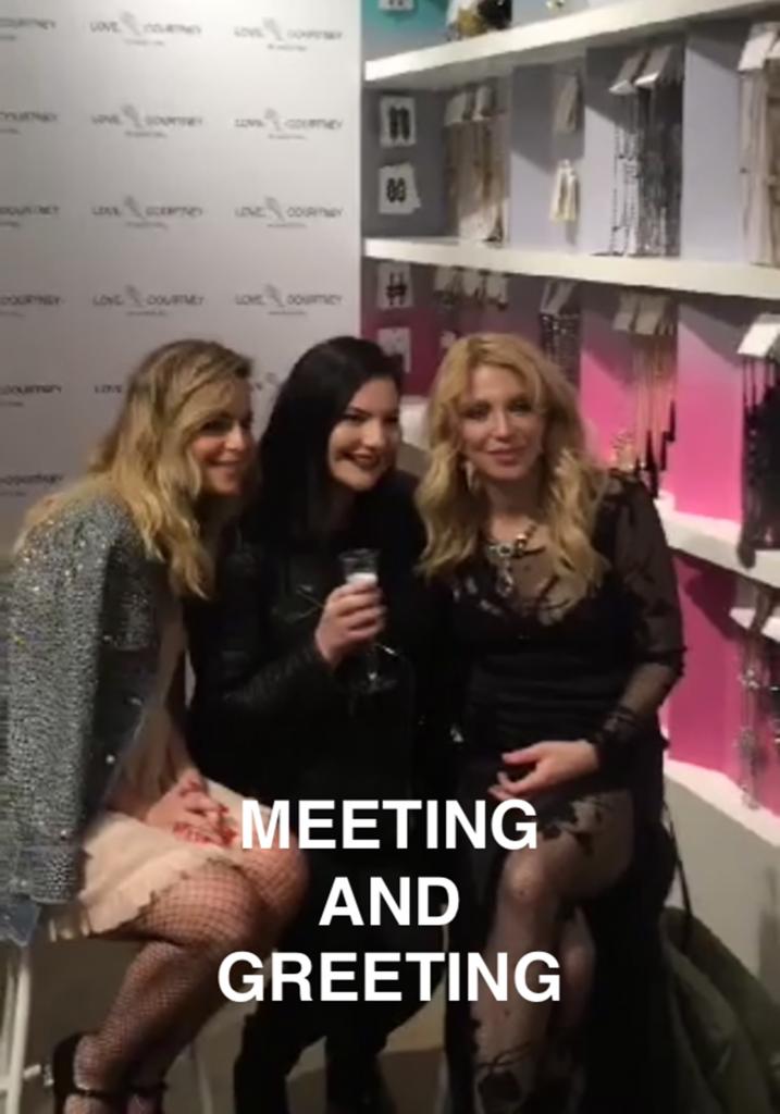 Olivia Frescura Sophia Amoruso Courtney Love Nasty Gal Meet & Greet Snapchat