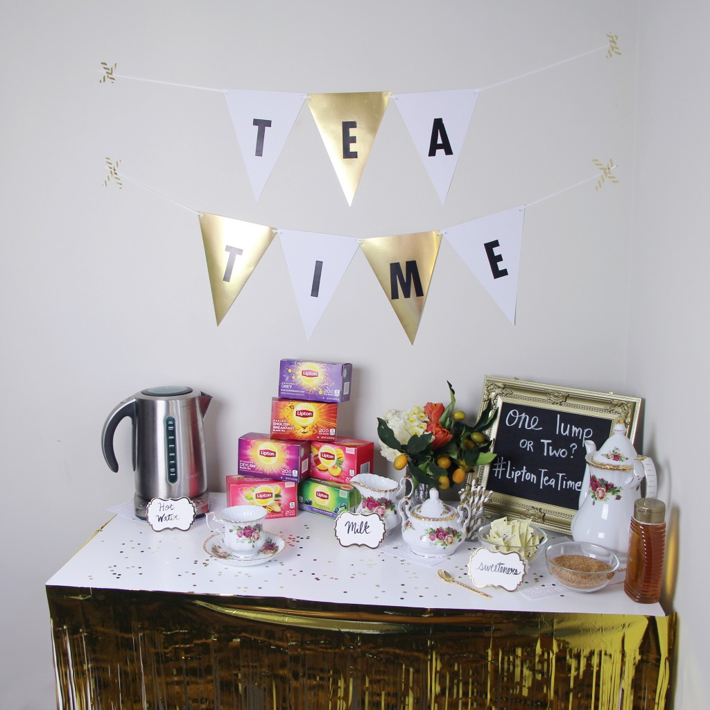 How To Throw A Brunch Tea Party Lipton #LiptonTeaTime How To Make A Tea Bar