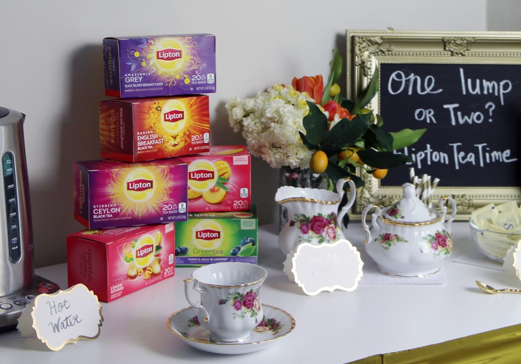 How To Throw A Brunch Tea Party Lipton #LiptonTeaTime Tea Bar