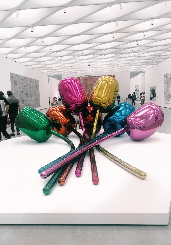The Broad Museum Downtown Los Angeles Jeff Koons Tulips 1995-2004