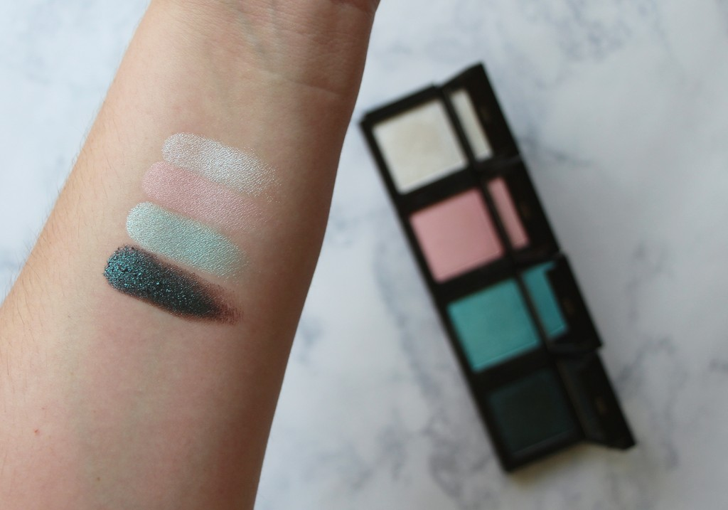 Jouer Mermaid Collection Iridescent Eyeshadow Palette Swatches Coconut Pink Pearl Splash Dreamer