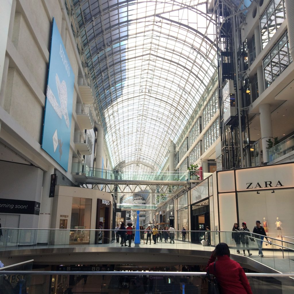 Eaton Centre Shopping What to do in Toronto
