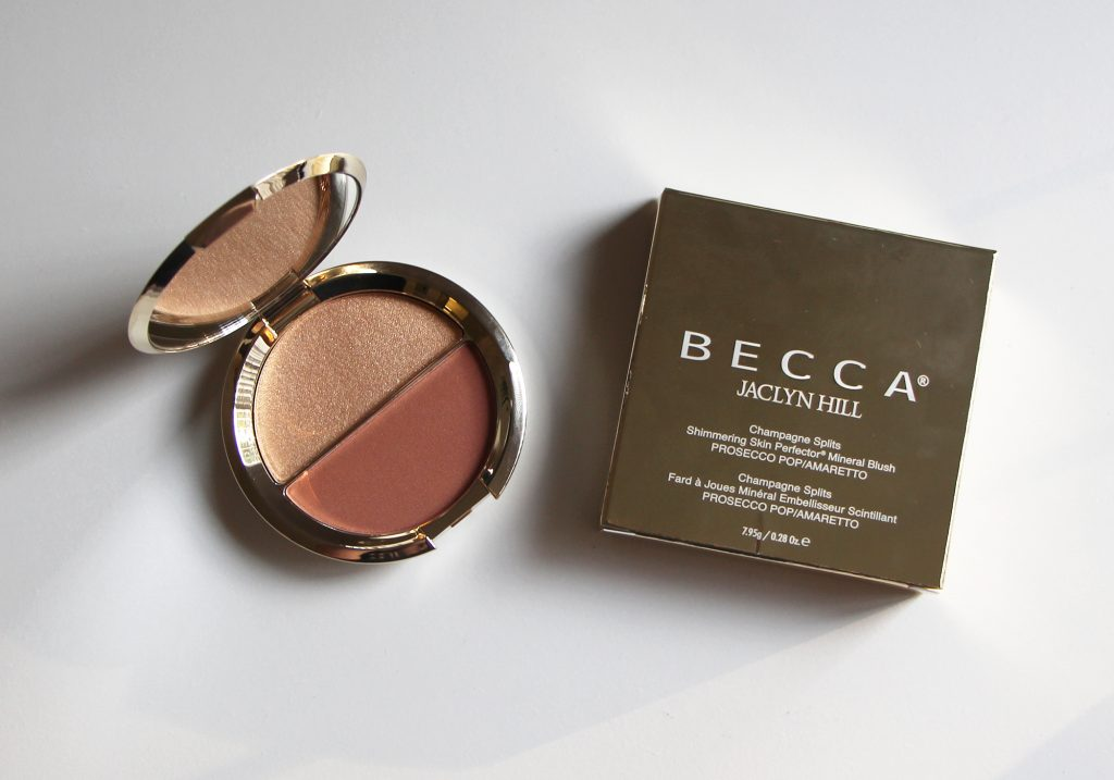 Becca x Jaclyn Hill Champagne Splits Shimmering Skin Perfector Mineral Blush Duo Prosecco Pop Amaretto Review