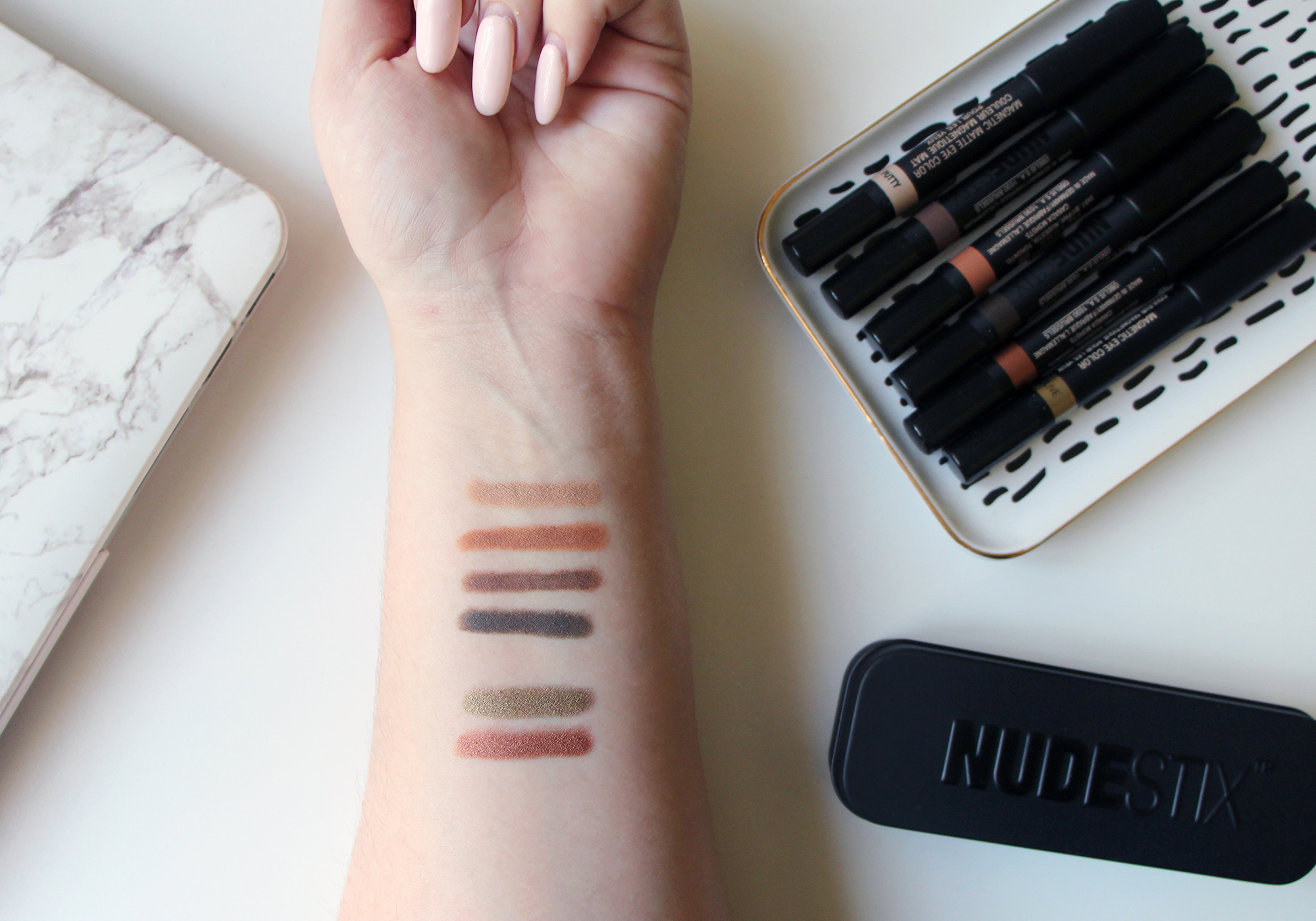Satin Copper Slate : Nudestix magnetic matte eye pencil terra putty slate taupe