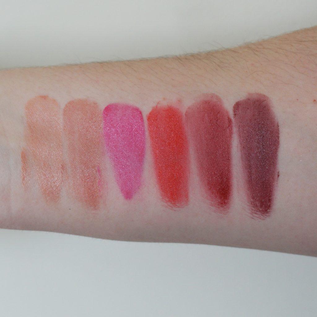 MAC Diane Kendal Casual Colour Lip & Cheek Colour x 7 in Enhance Me Swatches