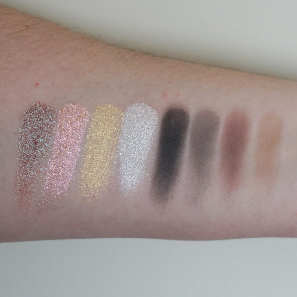 MAC Kabuki Magic The Shining Hour Dazzleshadow Letty Lynton Heaven Loves You Last Dance Humoresque The Best Of Everything Eye Shadow Love On The Run Trog Johnny Guitar Sense Of Doubt Swatches