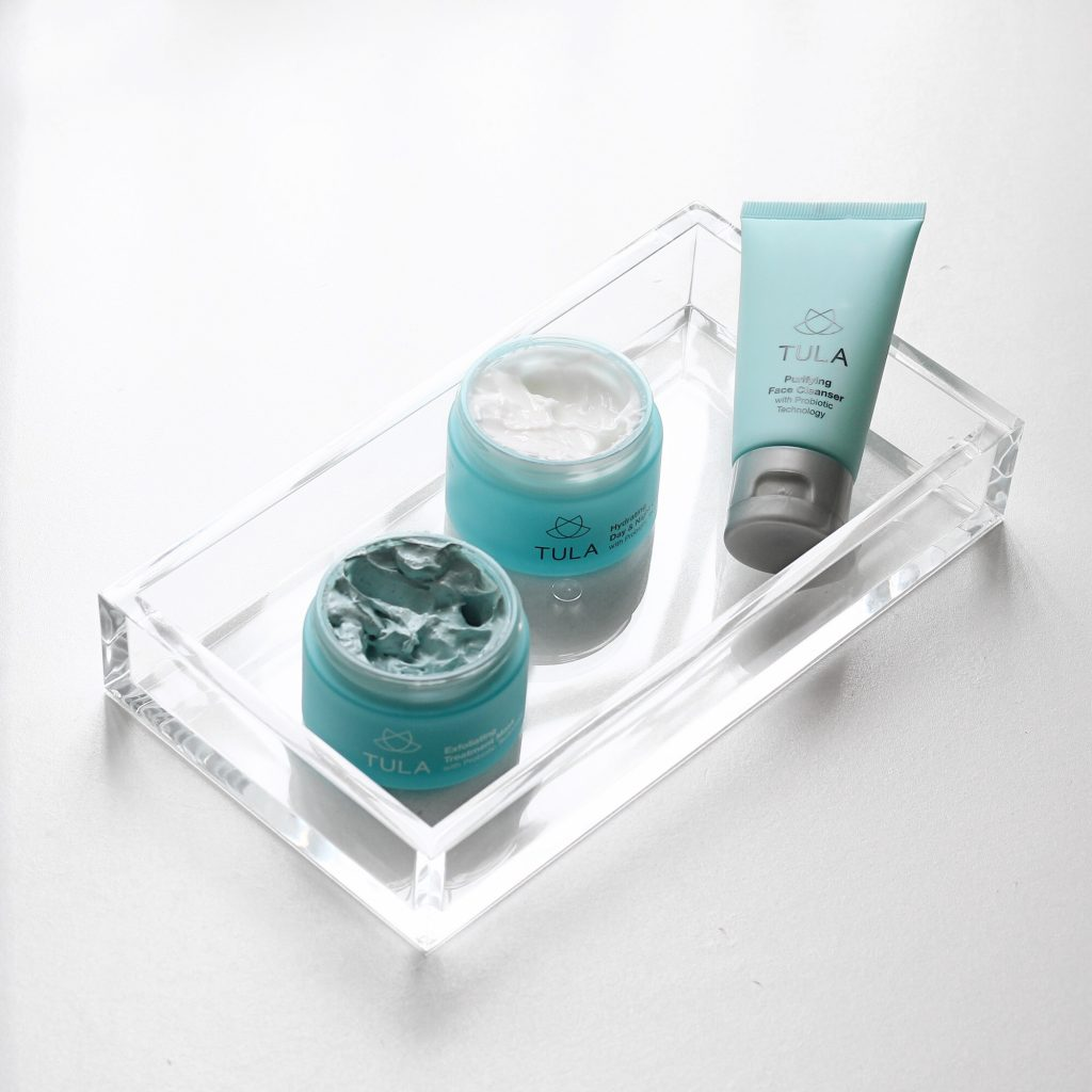 Tula Exfolating Treatment Mask, Hydrating Day & Night Cream, and Purifying Face Cleanser
