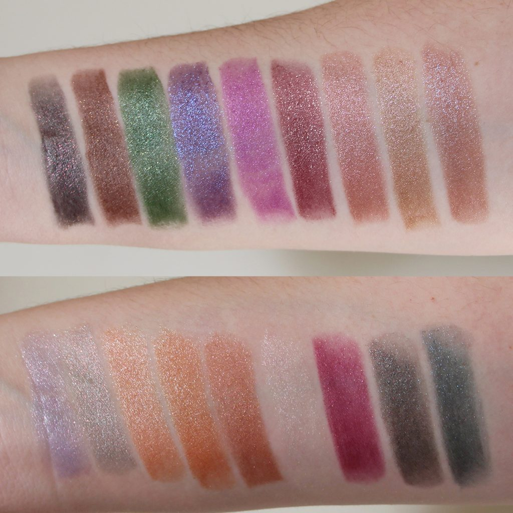 Top: Metal Head, Act So Cool, Zerocool, Royal Hour, Foiled Rose, Hades Fire, Pale Rosé, Modern Midas, Devotional Bottom: Cold Front, Silver Spoon, In Lust, Digging For Gold, Jupiter, Pearly One, Disobedient, Nightly Ritual, Anything Once
