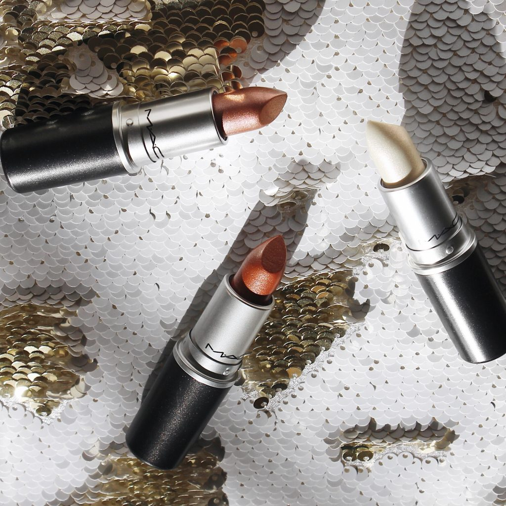MAC Metallic Lipstick Collection (Pale Rosé, Digging For Gold, Pearly One)